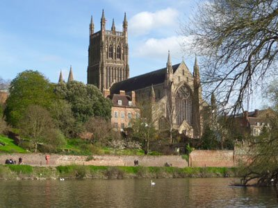 View of Worcester Cathedral
