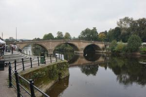 OvenMagic cleans in Bewdley - This is the main bridge in Bewdley town Center, In the Severn valley.