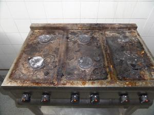 Stainless Steel Hob Cleaning