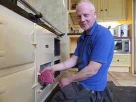 Paul cleaning an AGA - OvenMagic
