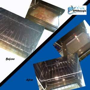 Before and after oven Cleaning in Worcestershire by OvenMagic