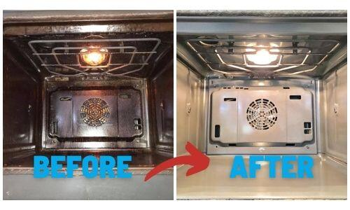 Before And After And Ovenmagic Clean
