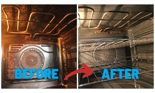 See The Difference Between The Before And After On An Ovenmagic Clean.